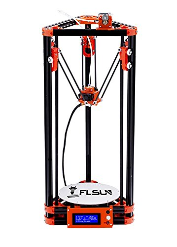 Flsun 3d Printer Delta Kossel Diy Kit Desktop Large 3d Printing Size Metal Frame Structure Printer 3d Optimized Accuracy and Stability with Heated Bed PLA Filaments SD Card For Free flsun Printers
