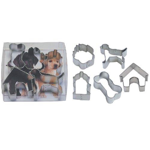 Miniature Dog Tin Cookie Cutter 5 Pc Set L1871b