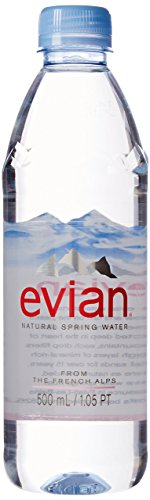 evian Natural Spring Water 500 ml, 24 Count