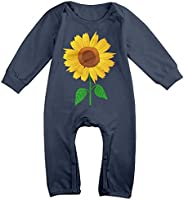 Baby Girl Boy Clothes Pretty Golden Sunflower Bodysuit Romper Jumpsuit Outfits Baby One Piece Long Sleeve