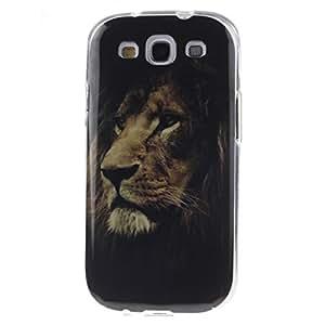 ANGELLA-M Case For Samsung Galaxy S3 i9300 Cartoon Lion Animal Flexible Silicone Slim Soft TPU Gel Protection Back Cover.