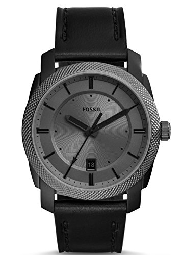 Fossil Men's Machine Watch With Leather Strap