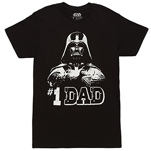 Star Wars #1 Dad Darth Vader Father's Day T-Shirt - Black (Large) (Darth Vader Best Dad Shirt)