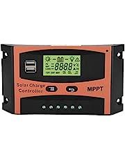 Zonnepaneelregelaar, MPPT laadregelaar, 12 V/24 V, 30 A, 40 A, 50 A, 60 A, zonnelaadregelaar met LCD-display (40A)
