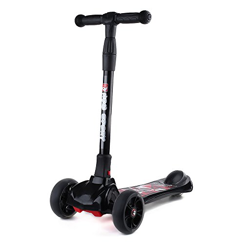 New Olym Kid's Kick Scooter (Mini) Four-Wheeled Skateboard with Adjustable Handlebars |...