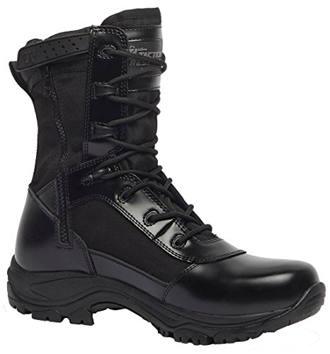 Belleville 8  Hot Weather High Shine Side Zip Tactical Boot  Black  10  Width  R