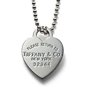 Tiffany And Co Necklace Heart Tag Pendant Silver 051