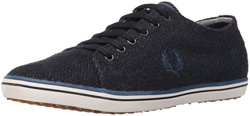 Fred Perry Men Kingston Tweed Fashion Sneaker Navy/Midnight Blue