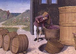 Jean Poyet Treading Grapes Blank Greeting Cards & Envelopes Wine Making & Wine Barrels 5' X 7' (10 Count)