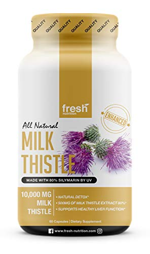 Milk Thistle Capsules Strongest Supplement