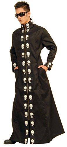 Halloween Pinhead Costume (Forum Novelties Men's Deluxe Skull Duster Costume Coat, Black/White, Standard)