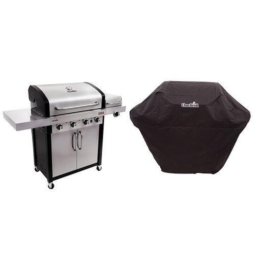 Professional Side Burner (Char-Broil Professional TRU Infrared 4-Burner Cabinet Gas Grill  + Cover)
