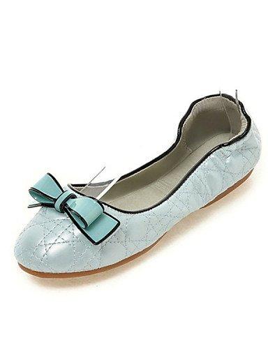 plano punta azul casual Beige vestido talón cn39 piel carrera rosa Flats blue redonda mujer eu39 PDX de us8 uk6 oficina zapatos de y ZxCwYq0