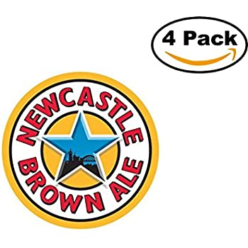 Beer newcastle brown ale logo 4 stickers 4x4 inches car bumper window sticker decal