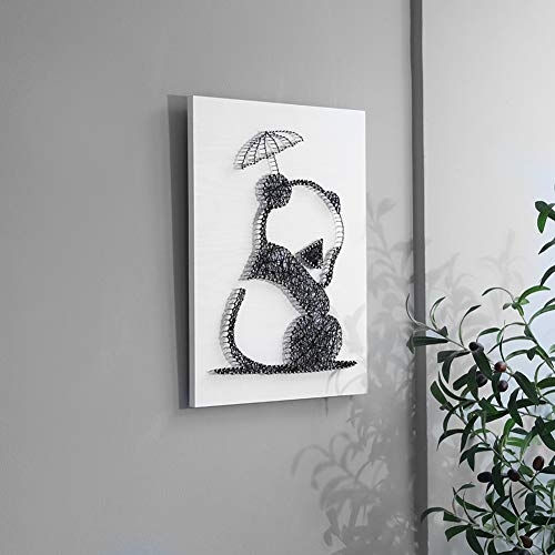 Home Decoration DIY Thread Winding Stereo Panda Decorative Painting, Mural DIY Material Package Decompression Desktop Decoration Decorations, Parent-Child Manual Interactive Game by Home Decoration (Image #1)