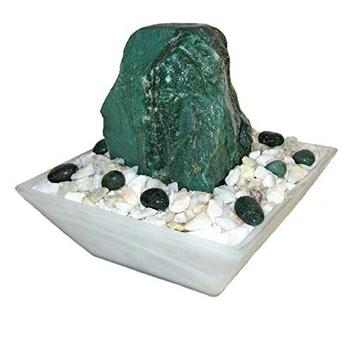 kleiner Tischbrunnen für zu Hause Troester/'s Brunnenwelt Quellstein aus echtem Aventurin Troesters Brunnenwelt Selina Aventurin mit Pumpe und Zierkiesel Aventurin