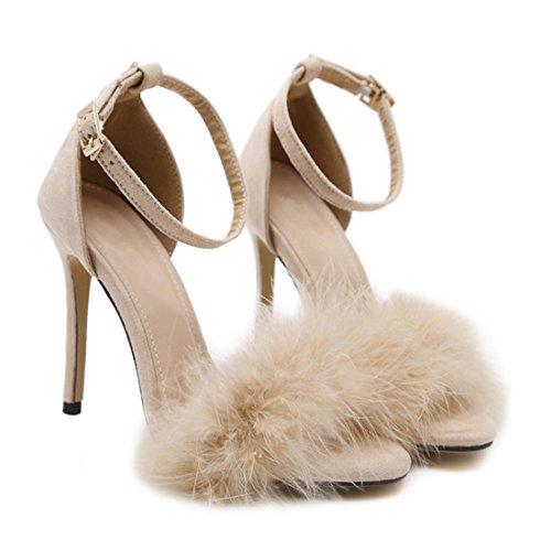 Chaussure a CM Elegante Yy Femme de Environ YYF f Pour 8 abricot Printemps 014 Talon Ete wIttn4zBq