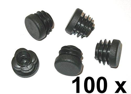 100X lamelle Bouchon Tube rond évent Ø 20mm (extérieur) Bouchon Noir FKAnhängerteile