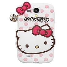 JBG Cartoon Skin Cute Soft Silicone Polka Dots Cover Case Heart Pendant For Samsung Galaxy S3 SIII Mini I8190 White
