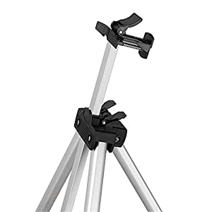 "Aluminum Folding Easel Artist Field Display Presentation Exhibition Picture Holder Adjustable 63"" Tripod Stand Lightweight with Carry Bag for Outdoor Floor Tabletop Drawing Painting Sketching"