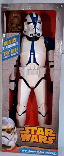 Star Wars 31 501st Legion Clone Trooper Figure With Bonus Chewbaccca Flashlight disney