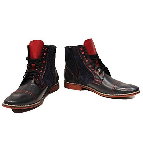 Allacciare Uomo PeppeShoes da Patrone Stivali Nero Scamosciato Vacchetta Modello in Handmade Italiano Pelle nH7XqH