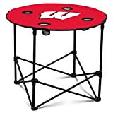 Wisconsin Badgers Collapsible Round Table with 4