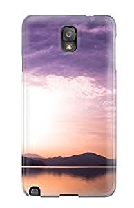 Premium Galaxy Note 3 Case - Protective Skin - High Quality For Sunset Over Lake