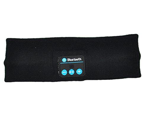 Koododo Bluetooth Headbands Headphone Cool Bluetooth Wireless Music Headband with Microphone & Stereo Headphone Hands Free, (Bluetooth Headband Black)