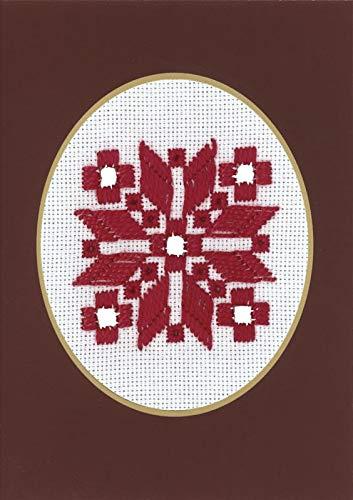 Permin Scandinavian Art Needlework Hardanger: Tarjeta Navideña ...