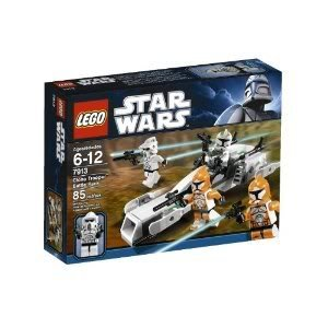 Cheap LEGO Star Wars Figure Packs Clone Trooper Battle Pack 7913 With New Clone Commander Minifigures