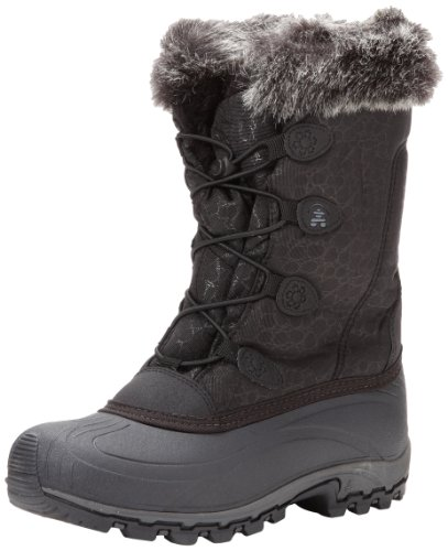 Kamik Women's Momentum Snow Boot,Black,7 M US
