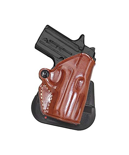 MASC Premium Leather OWB Paddle Holster with Open Top Fits Sig P238 Without Laser, Right Hand Draw, Brown Color #1096#
