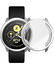 Flexible plastic cover with transparent screen protector 360 degree protection, Colored frame for Samsung Galaxy Watch Active2 (44mm) - 2725473254719