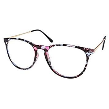 e0452e7f5f78c Image Unavailable. Image not available for. Color  Southern Seas Clear Lens  Frames Floral Print Spectacles ...