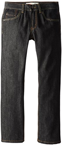 Levi's Boys' 505 Regular Fit Jeans,Black/Natural