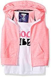 Limited Too Big Girls\' 2 Piece Sleeveless Tank and Hoodie Set, 3135-Neon Pink, 14/16