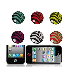High Quality Button Epoxy Sticker for iPhone/ iPad/ iPod Touch (6 pcs in one packaging, the price is for 6 pcs)