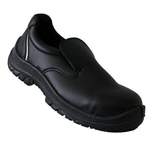 SRC chaussures de sécurité s2 kochschuhe laborschuhe nessuna collezione noir, mocassins femme