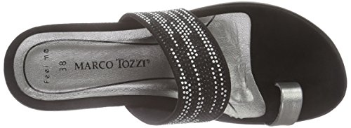 Marco Tozzi 27400 - Sandalias Mujer Negro - Schwarz (BLACK COMB 098)