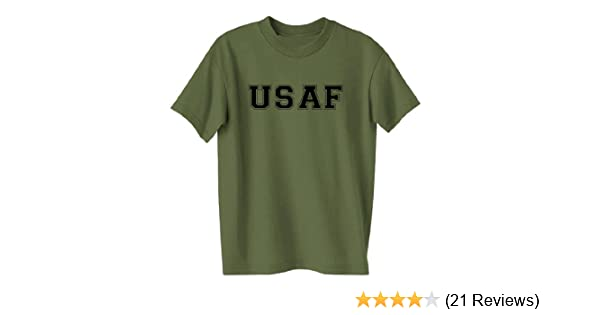 ac1e45dff1b1a9 Amazon.com: USAF Air Force S/S T-Shirt in Military Green: Military Apparel  Shirts: Clothing