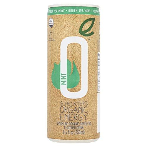Scheckter's Organic Energy Drink, Green Tea Mint, 8.4 Ounce (Pack of 12)