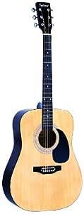 Falcon FG100N - Guitarra acústica (cuerdas metálicas), color marrón