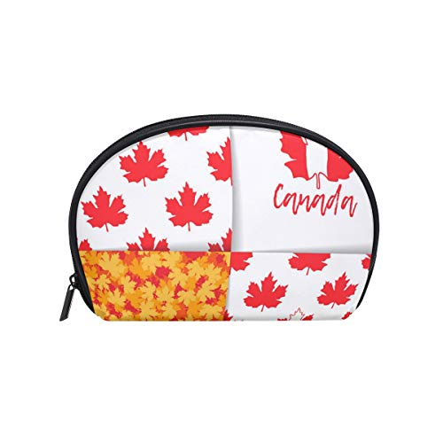 - Canadian Maple Leaf Mosaic Poster Women's small cosmetic case for Cosmetic purse and Toiletries Organizer Bag Pack cosmetic travel bag