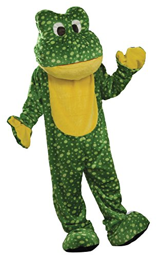 Deluxe Frog Mascot Costumes (UHC Unisex Deluxe Plush Frog Mascot Theme Party Adult Halloween Costume, OS)
