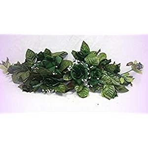 Inna-Wholesale Art Crafts New Hunter Green Swag Silk Roses Centerpiece Decorating Flowers Arch Gazebo Pew Decor - Perfect for Any Wedding, Special Occasion or Home Office D?cor 4