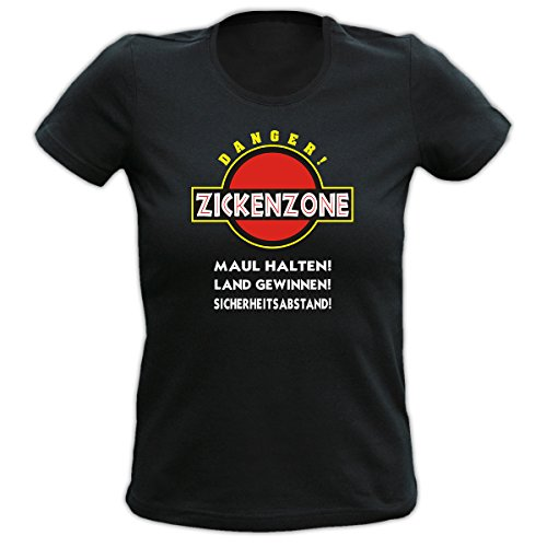 Zickenzone - Maul halten! Land gewinnen! Sicherheitsabstand! Fun T-shirt Fb schwarz