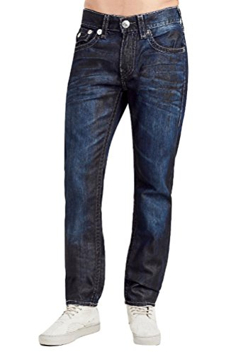 True Religion Men's Skinny Flap Grey Super T Stitch Jean ...