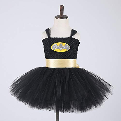 Wonder Woman Costumes Child Cosplay Children's Clothes Superman Game Anime Dress Party Party Cospaly Costume,Black,L]()