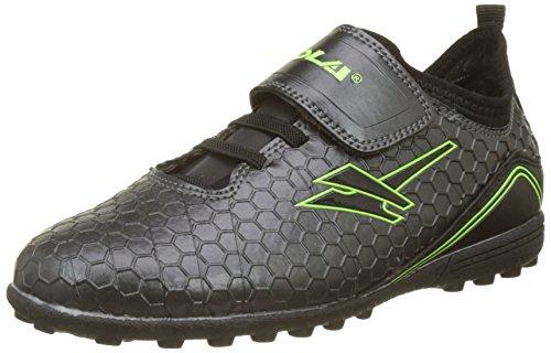 Gola Unisex-Kinder Apex VX Velcro Fußballschuhe Grau (Dark Grey/black)